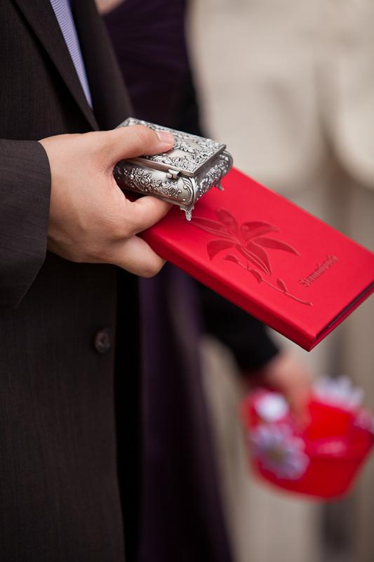 Brauteltern mit Stammbuch