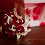 Blumen mit Geschenk